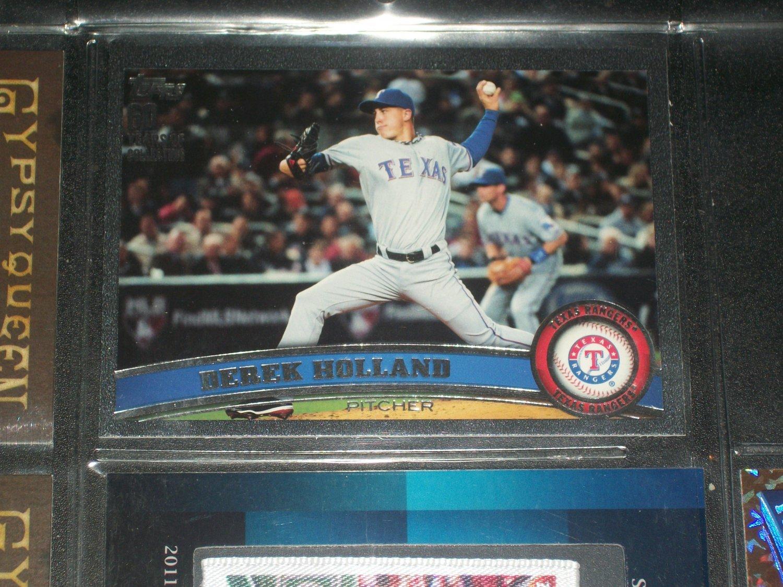 Derek Holland 2011 Topps Baseball Card-