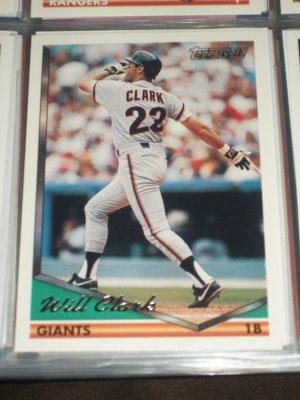 Will Clark 1994 Topps Baseball Card- Gold Insert