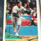 Mark McGwire 1994 Topps Baseball Card- Gold Insert