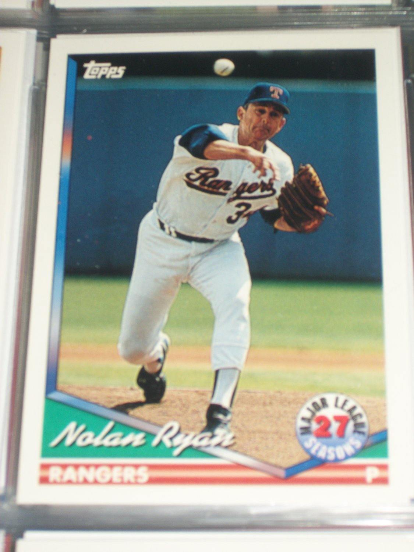 nolan ryan 1994 topps baseball card 27 mlb seasons