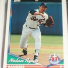 Nolan Ryan 1994 Topps Baseball Card- 27 MLB Seasons
