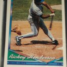 Rickey Henderson 1994 Topps Baseball Card