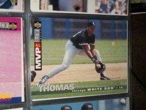 Frank Thomas 1995 Upper Deck Collectors Choice Baseball Card- A.L. MVP