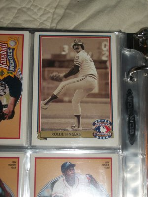 Rollie Fingers 92 UD Heroes of Baseball RARE INSERT CARD #H7