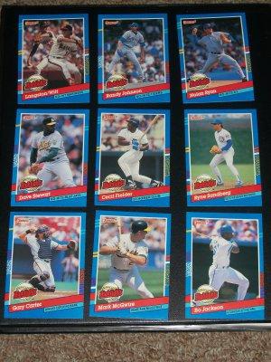 "1991 Donruss Series 1 ""Highlights"" Complete 9 Card Set"
