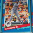 Ken Griffey jr 1991 Donruss baseball card