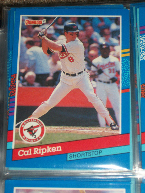 Cal Ripken 1991 Donruss baseball card