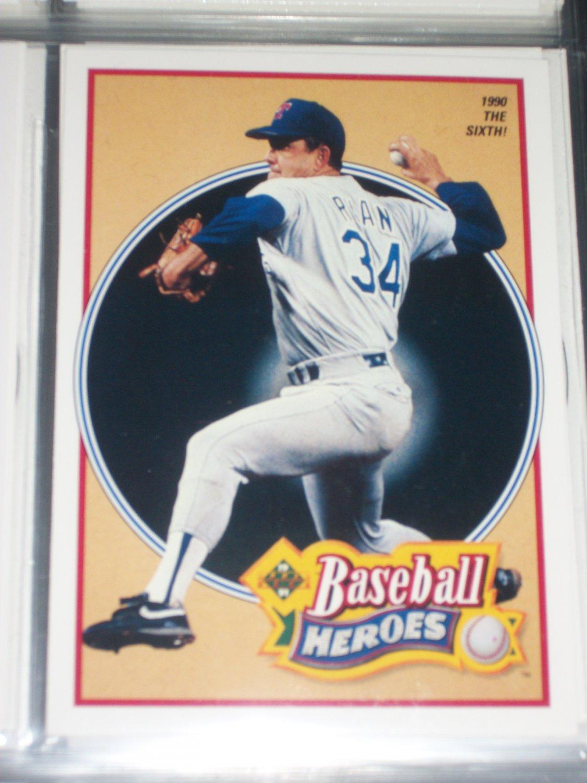 Nolan Ryan 1990 UD Baseball Heroes Insert #16/18- 1990 The Sixth!
