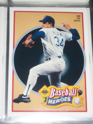 Nolan Ryan 1990 UD Baseball Heroes Insert #16/18- 1990 The Sixth!