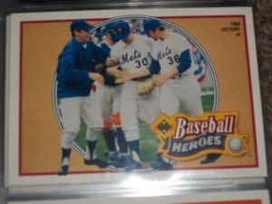 Nolan Ryan 1990 UD Baseball Heroes Insert #10/18 1968 Victory #1