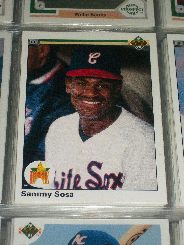 Sammy Sosa 1990 Upper Deck Rookie Card