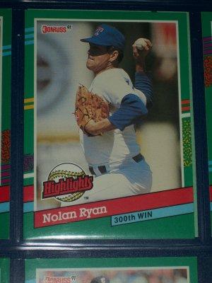 Nolan Ryan 1991 Donruss Highlights Baseball Card 300th Win