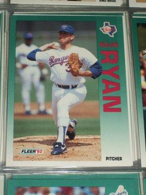 Nolan Ryan 1992 Fleer baseball card
