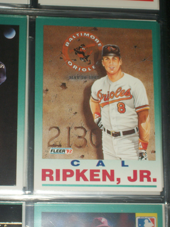 "Cal Ripken jr 92 Fleer rare ""Ironman"" baseball card"