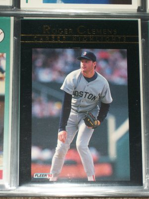Roger Clemens 92 Fleer rare Career Highlights baseball card