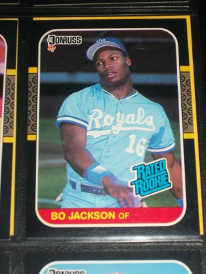 Bo Jackson 87 Donruss Rated Rookie Baseball Card
