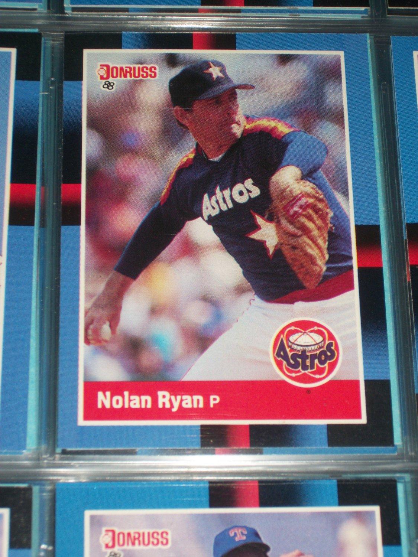 Nolan Ryan 88 Donruss Baseball Card