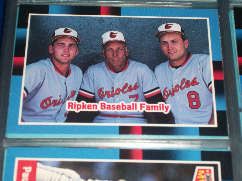 88 Donruss- The Ripken Family baseball card