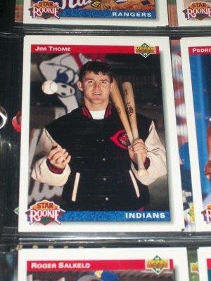 Jim Thome Upper Deck Star Rookie baseball card