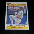 "Roger Clemens 1990 Fleer ""Players of the Decade"" baseball card"