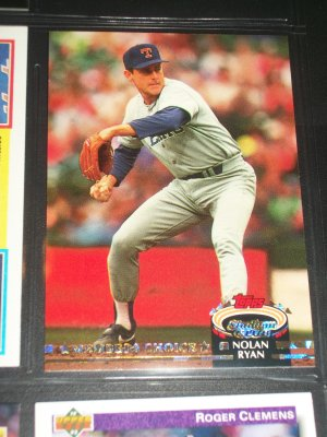 "Nolan Ryan 92 Stadium Club baseball card- Special ""Gold Members Choice Edition"""