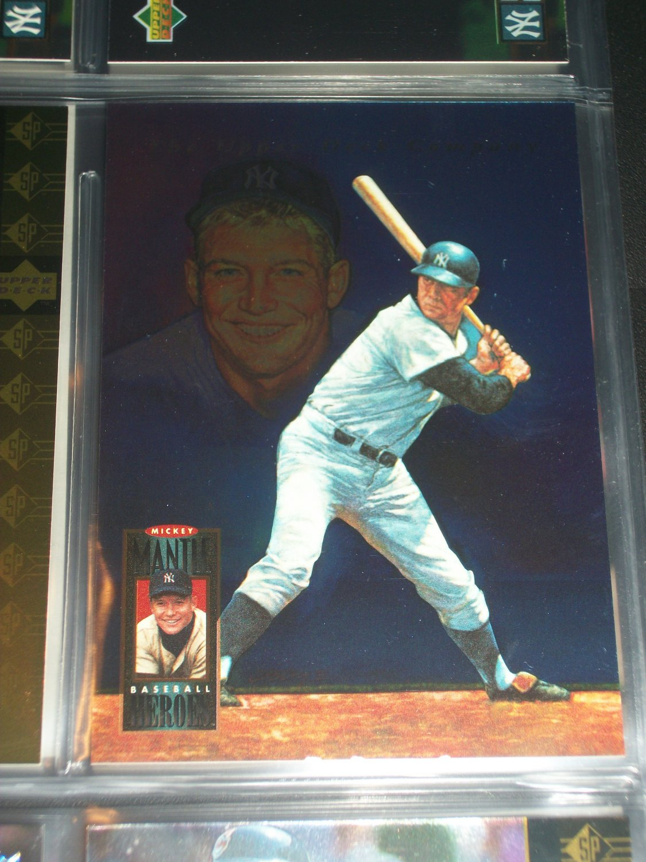 "Mickey Mantle 94 UD RARE ""Baseball Heroes"" insert series- #72/72 baseball card"