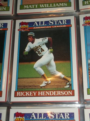 Rickey Henderson 1991 Topps American Leage All-Star