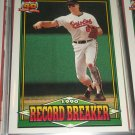 "Cal Ripken jr 1991 Topps ""Record Breaker"" baseball card"