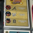 "Chipper Jones/Ryan Braun/Miguel Cabrera 08 UD Baseball Heroes card- ""Trio of Powerful Sluggers"""