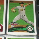 Gio Gonzalez 2011 Topps baseball card- All-Star Game