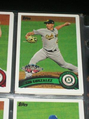 Gio Gonzalez 2011 Topps baseball card- All-Star Game