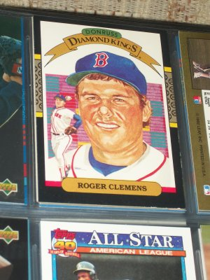 "Roger Clemens 1986 Donruss ""Diamond Kings"" Baseball card"