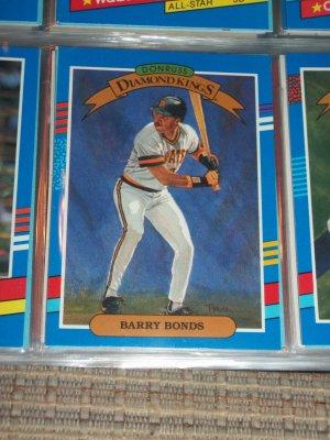 Barry Bonds 1991 Donruss Baseball card- Diamond Kings