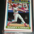 Barry Larkin 1991 Topps Baseball Card- National League All-Star