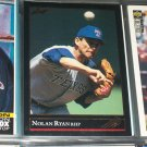Nolan Ryan 92 Leaf Baseball Card- Rare Gold Series Edition