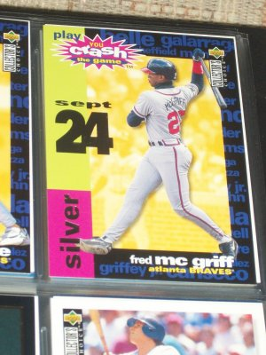 "Fred McGriff 95 UD- You Make the Call- Silver ""You Make the Call"" baseball card"