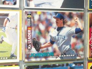 Randy Johnson 95 UD Collectors Choice 94 K's Leaders baseball card