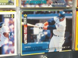 Tony Gwynn 95 UD Collectors Choice N.L. Batting Title baseball card
