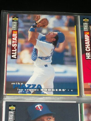 Mike Piazza 95 UD Collectors choice baseball card- All Star