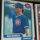 Ryne Sandberg 1990 Fleer baseball card