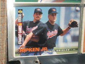 Cal Ripken jr 1995 UD Collectors choice baseball card- 2,000 straight games