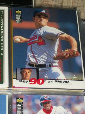 """Greg Maddux 95 UD collectors choice """"Best of the 90's""""  Baseball Card"""