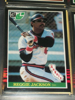Reggie Jackson 85 Leaf baseball card