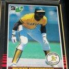 Rickey Henderson 85 Leaf baseball card