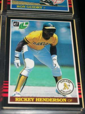 Rickey Henderson 85 Leaf baseball card