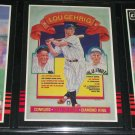 "Lou Gehrig 85 leaf RARE ""Hall of Fame Diamond King"" baseball card"