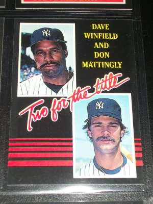 "RARE Winfield+Mattingly 85 Leaf ""Two for the Title"" baseball card"