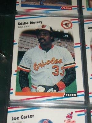 Eddie Murray 88 fleer baseball card