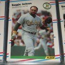 Reggie Jackson 88 fleer baseball card