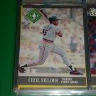 Cecil Fielder 1991 Fleer Ultra baseball card- Great Performances card